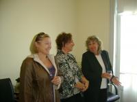 De derecha a izquierda: Inés Ares; Lourdes Fonalleras y Cristina Manovsky