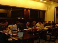 Delegados de países del COSAVE, en reunión del GICSV previo a la III CMF (Roma, Italia)