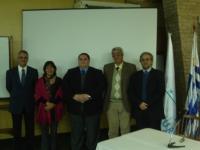 Los directores, con la nueva directora Grisel Monje de Chile