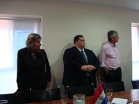 Brindis por el cambio de presidencia en el COSAVE