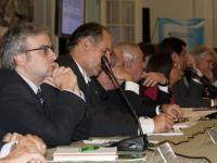 Presidente del CD durante el bienio 2010-2011, Ing. Diego Quiroga, durante Reunión CAS