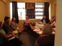 Reunión de la presidencia del SENAVE, con el Cómite Directivo del COSAVE, en noviembre del 2008, en las oficinas del COSAVE Paraguay